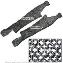 Functional Medieval Chainmail Legging 18G Round Ring Round Riveted Alt SCA LARP