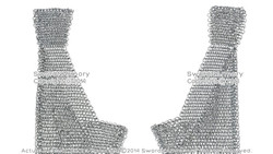 M/L Size Medieval Chainmail Legging Chausses 16G Steel Butted 10mm Rings LARP