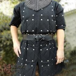 Renaissance Brigandine Medieval Steel Plated Armor Overcoat LARP Black