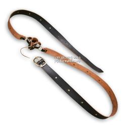 Medieval Double Wrap Genuine Black Leather Belt w/Frog LARP SCA
