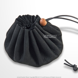Medieval Suede Leather Drannustring Coin Bag Pouch Renaissance Costume Cosplay