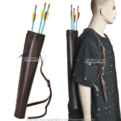 Handmade Medieval Leather Hunting Quiver For Renaissance