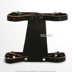"7"" Horizontal Leather Back Hanger Dagger Belt Sword Frog Renaissance Faire LARP"