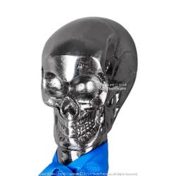 """Black Butler Skull Head Gentleman Walking Stick w/ Zinc Handle 36.5"""" Metal Cane"""