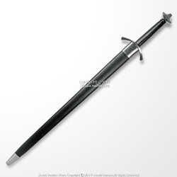 Medieval Style Warriors Viking Battle LongSword with Scabbard Spring Steel Blade