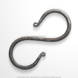 Hand Forged Steel Iron S Shape Hook Medieval  Camping Pot Lantern Hanging Tool
