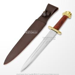 "19"" Viking Lobed Style Dagger Short Sword with Sheath Larp Costume Reenactment"