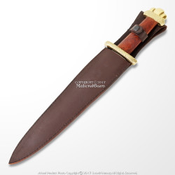 "19"" Viking Lobed Style Dagger Short Sword with Sheath Larp Costume Reenactment"