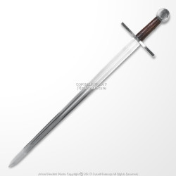 Handmade Peened Full Tang Norman Crusader Arming Sword Sharp Carbon Steel Blade