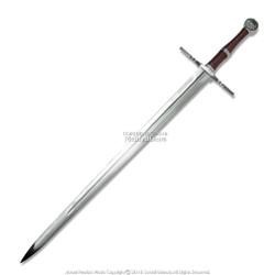 "49"" Geralt The Witcher Steel Blade Replica Sword w/ Scabbard."