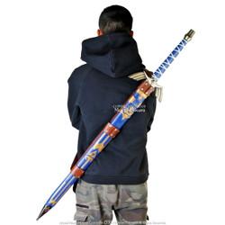 Medieval Baldric Huntsman Shoulder Strap Back Hanger Sword Belt Brown Leather