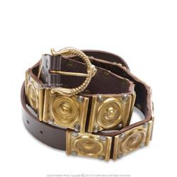Roman Military Belt Roman Legionary Belt Centurion Genuine Leather Brass Accent