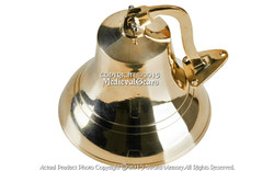 Medium Brass Ship Bell Solid Cast Clapper Rich Tone Knotted Bell Rope Nautical