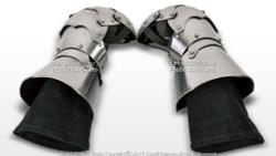 Medieval Functional Armor Battle Clamshell Mitten Gauntlets Glove SCA LARP HEMA