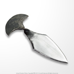 Medieval Hand Forged Iron Push Dagger Polished Blade Renaissance Fair