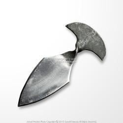 Medieval Hand Forged Iron Dagger Polished Blade Renaissance Fair