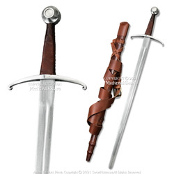 """36"""" Handforged Knights Gothic Medieval Sword Cold Peened Tang w/ Scabbard"""