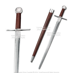 Functional Handmade Medieval Viking Sword with Scabbard Cold Peened Tang SCA