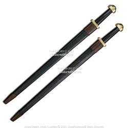 "38.5"" Viking Sword Steel Medieval Cosplay Norwegian LARP SCA with Scabbard"