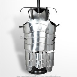 XL Size Medieval 18G Steel Deluxe Plate Armor Cuirass Type G w/ Tassets SCA LARP