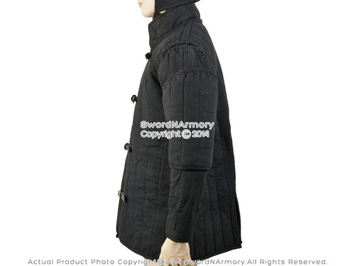 Gambeson Type IV Medieval Padded Armour Coat SCA LARP Arming Jacket