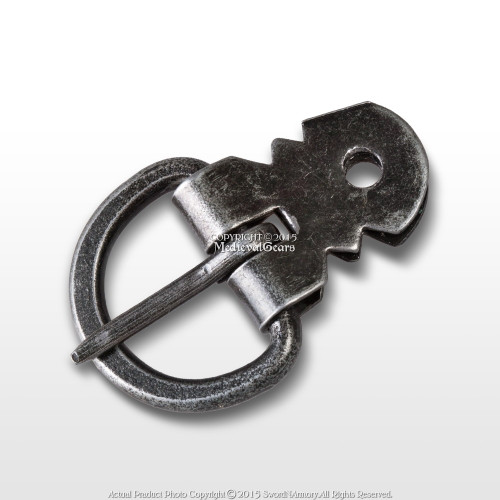 Set of 6 Medieval Plate Armor Steel Buckle with Double Sided 19mm Clasp Fixture