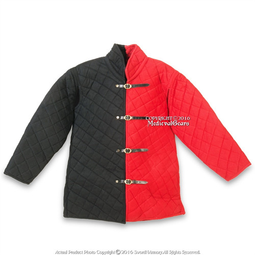 Details about  /Medieval Thick Padded Gambeson Coat Aketon Jacket Armor Reenactment SCA
