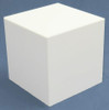 Clear Stands White Large Square Acrylic Display Cube, 16 Inch