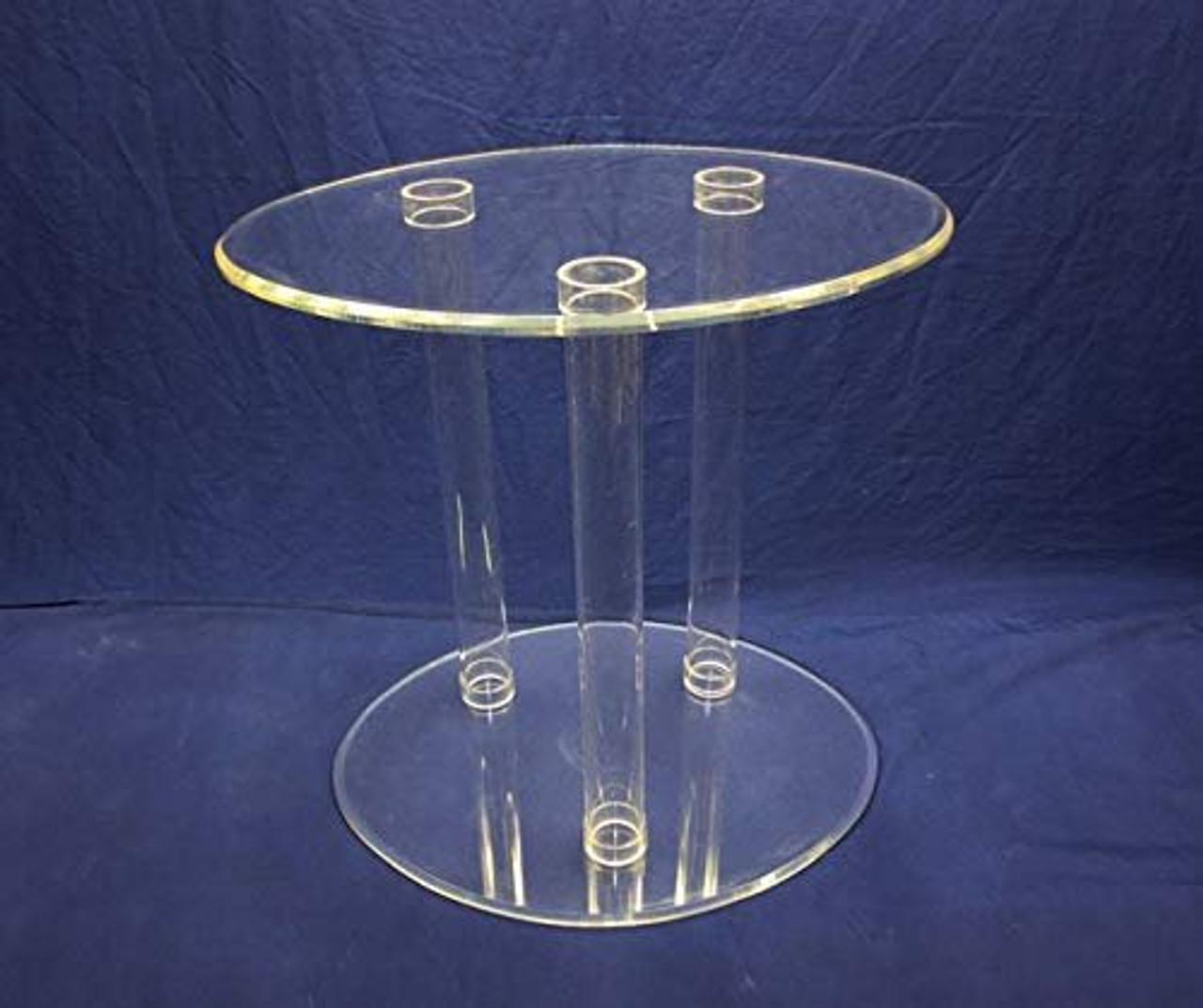 Acrylic Tubular Table, Clear, 30 Inch