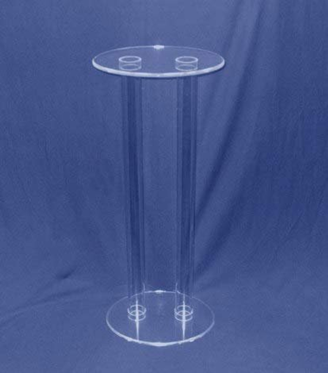 Clear Stands Tubular Oval Acrylic Pedestal, 36 Inches Tall