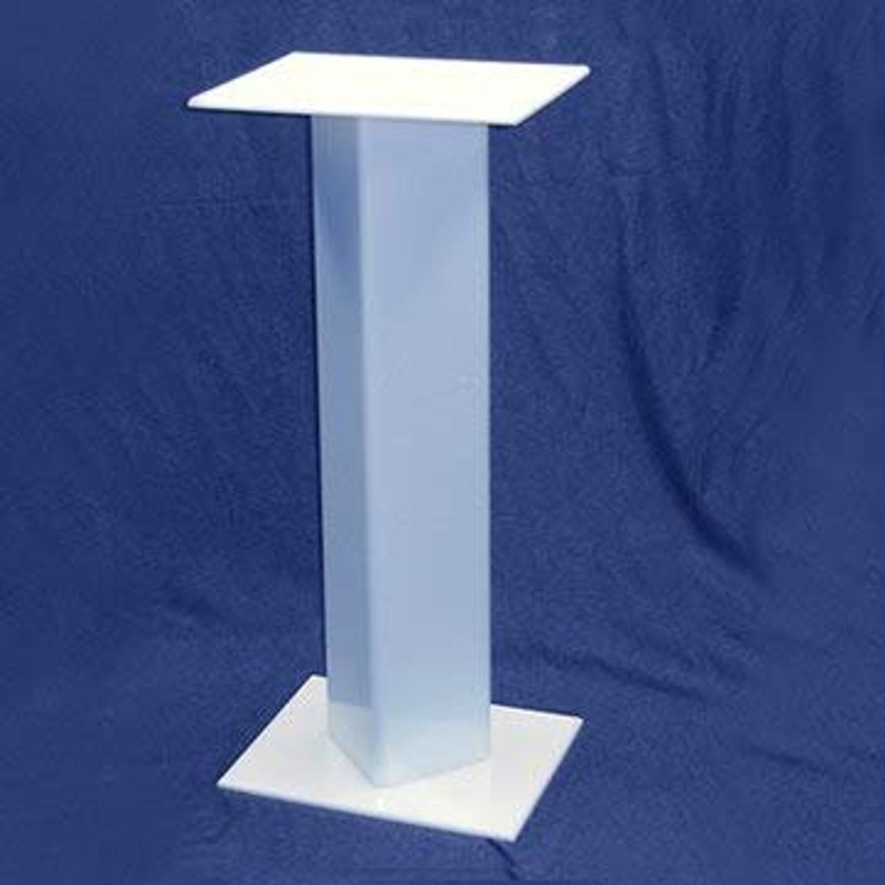 Square Acrylic Pedestal, 24 inch, White