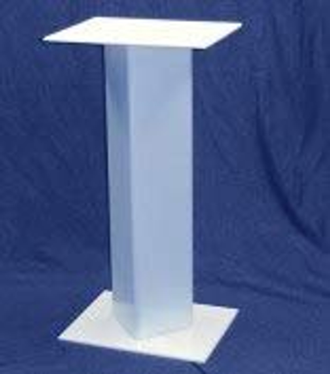 Rectangular Acrylic Pedestal, 36 Inch, White