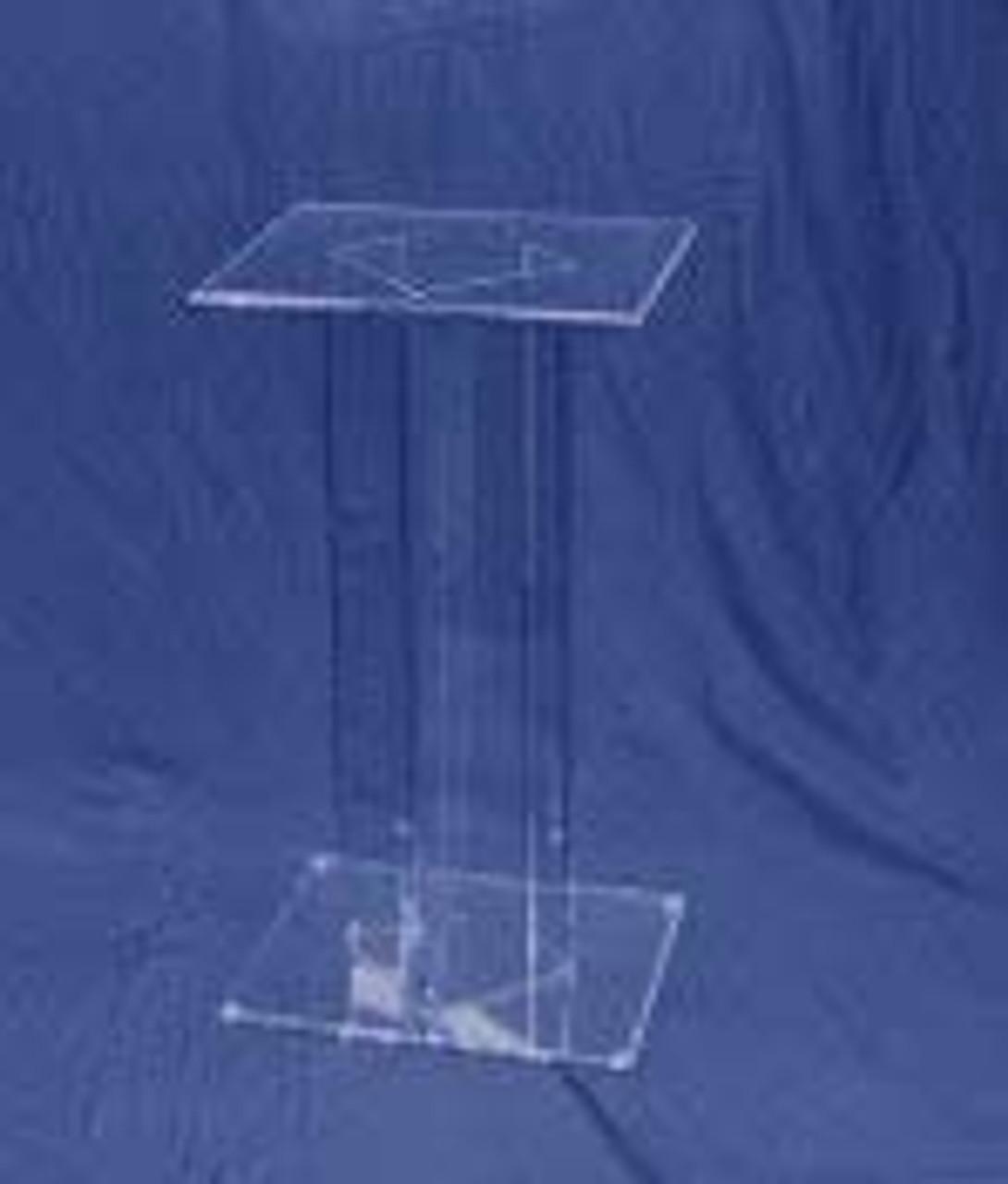Rectangular Acrylic Pedestal, 30 Inch, Clear