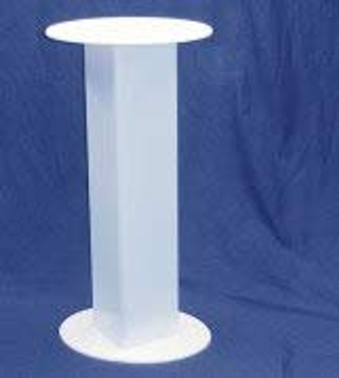 Clear Stands Oval Acrylic Pedestal, 36 Inch, White