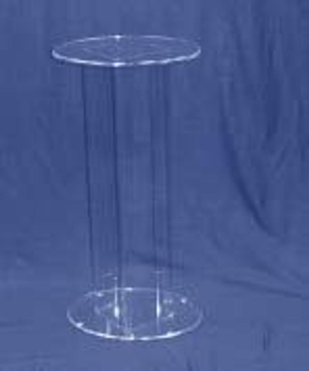 Oval Acrylic Pedestal, 36 Inch, Clear
