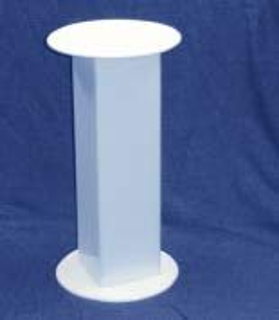 Circular Acrylic Pedestal, 24 Inch, White