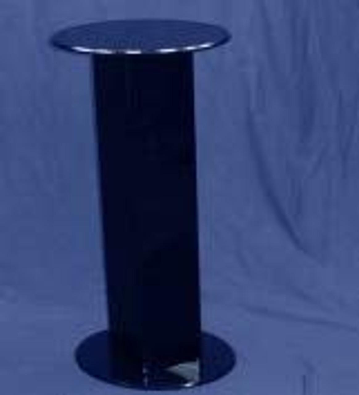 Oval Acrylic Pedestal, 30 Inch, Black