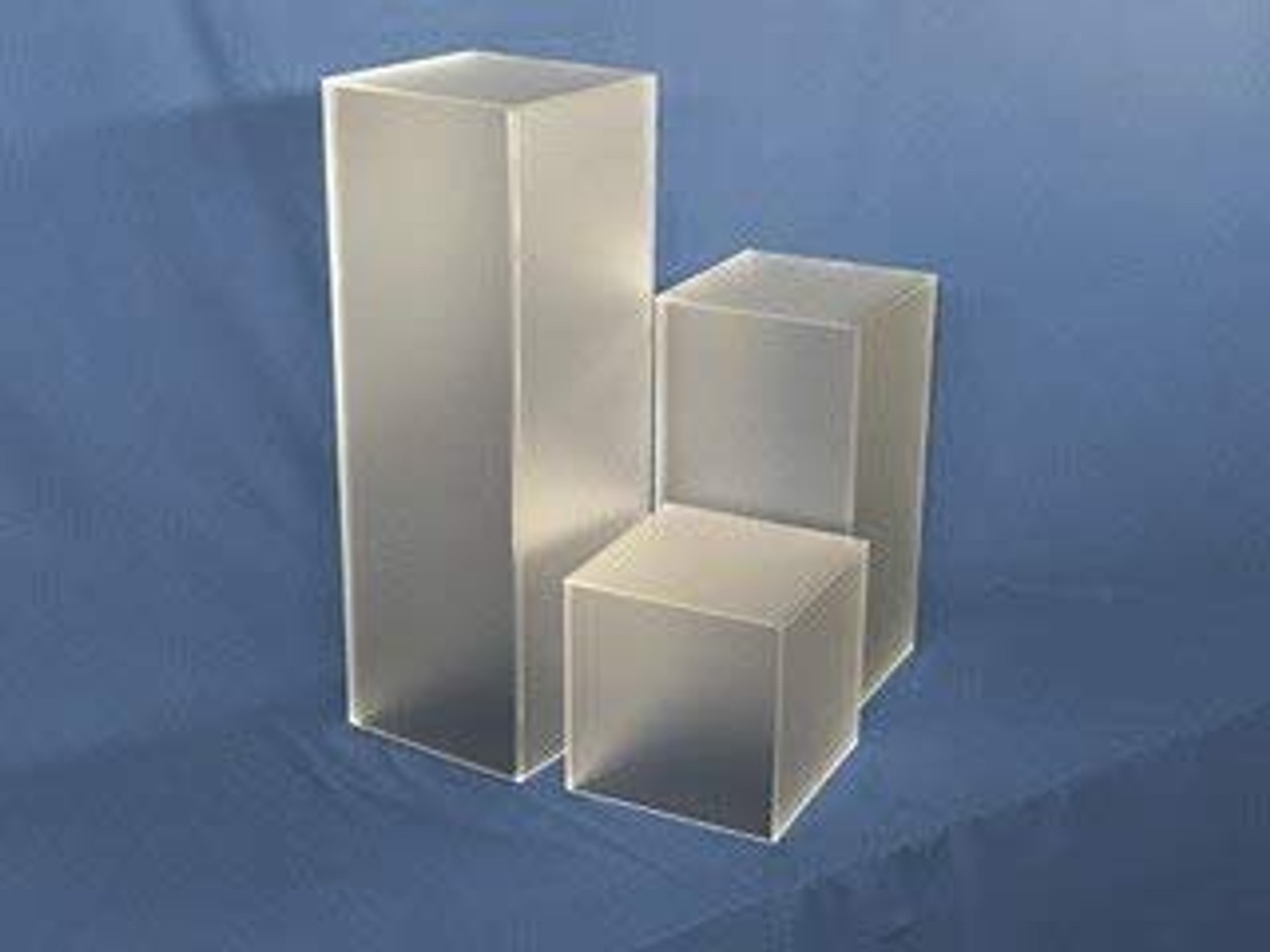 Clear Stands Frosted Square Acrylic Display Cube, 12 Inch
