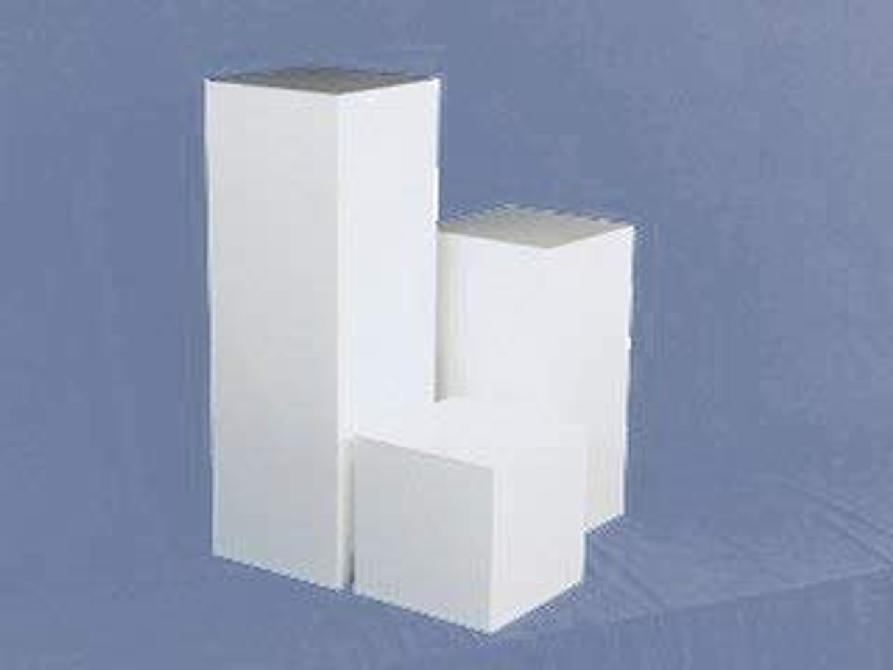 Clear Stands White Square Acrylic Display Cube, 12 Inch