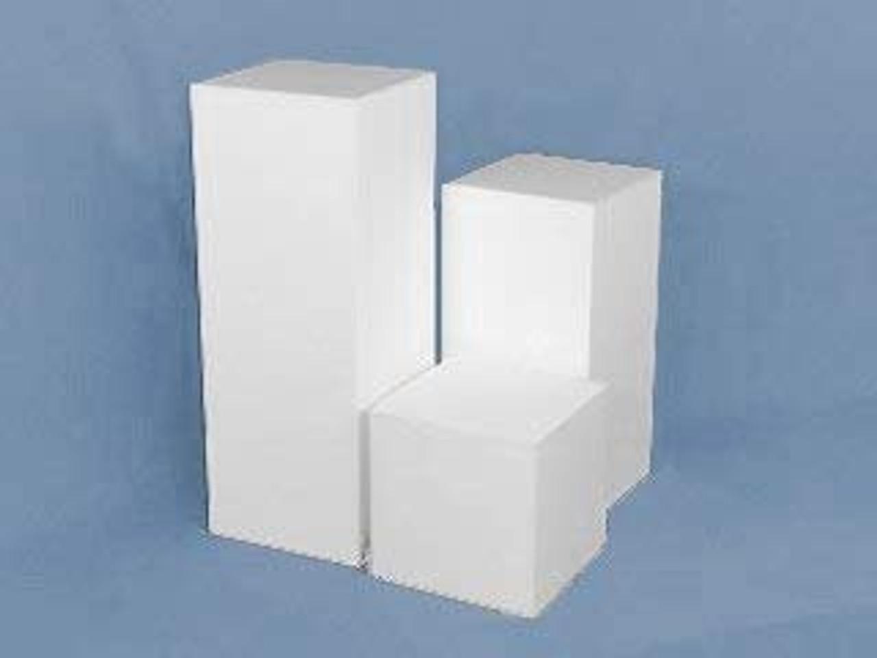 Matte Finish White Square Cube, 12 Inch