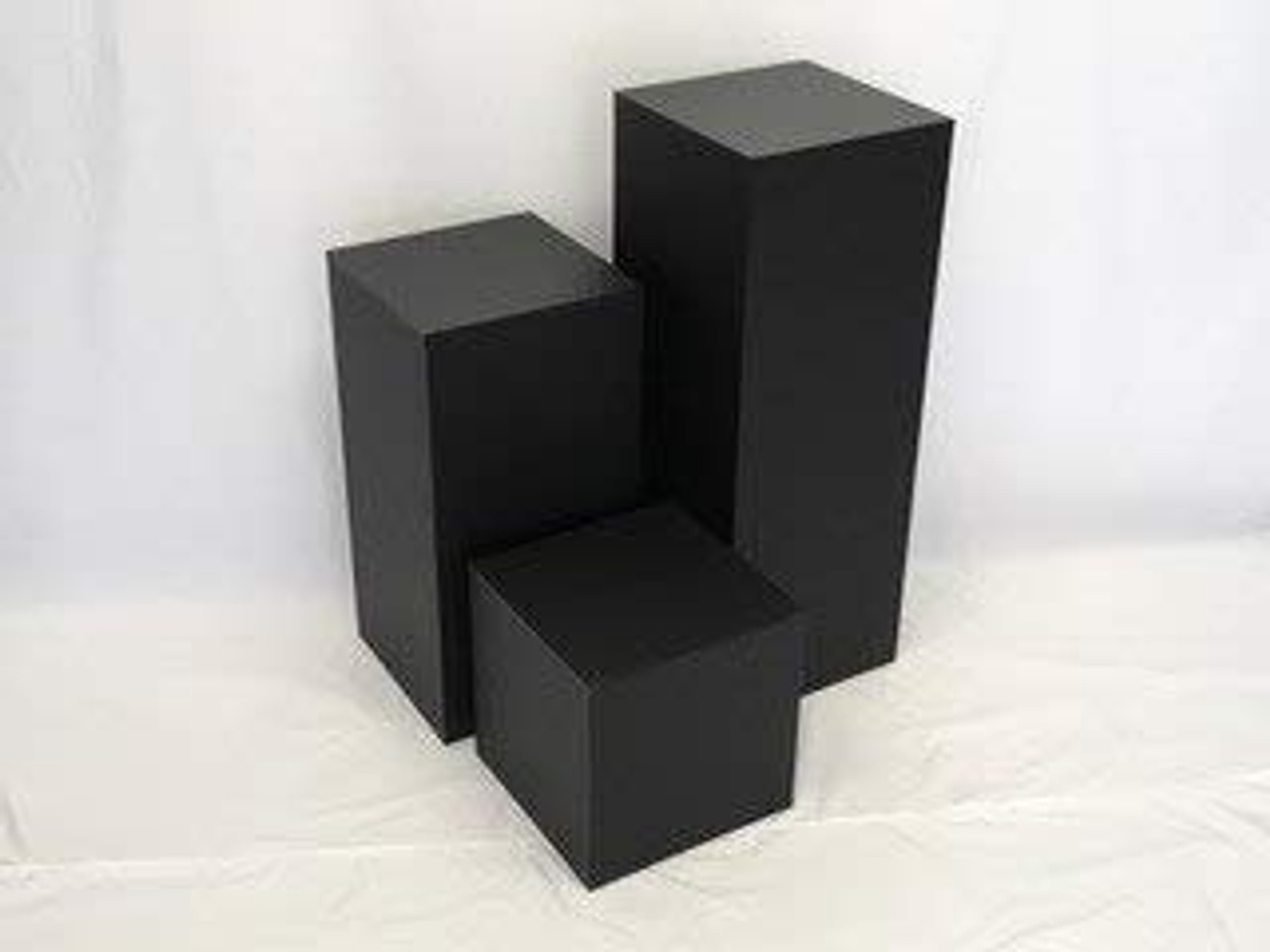 Matte Finish Black Square Cube, 24 Inch