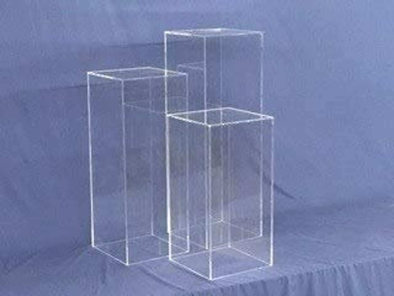 Clear Square Acrylic Display Cube, 30 Inch