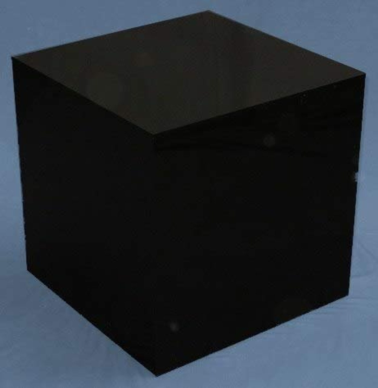 Clear Stands Black Large Square Acrylic Display Cube, 14 Inch