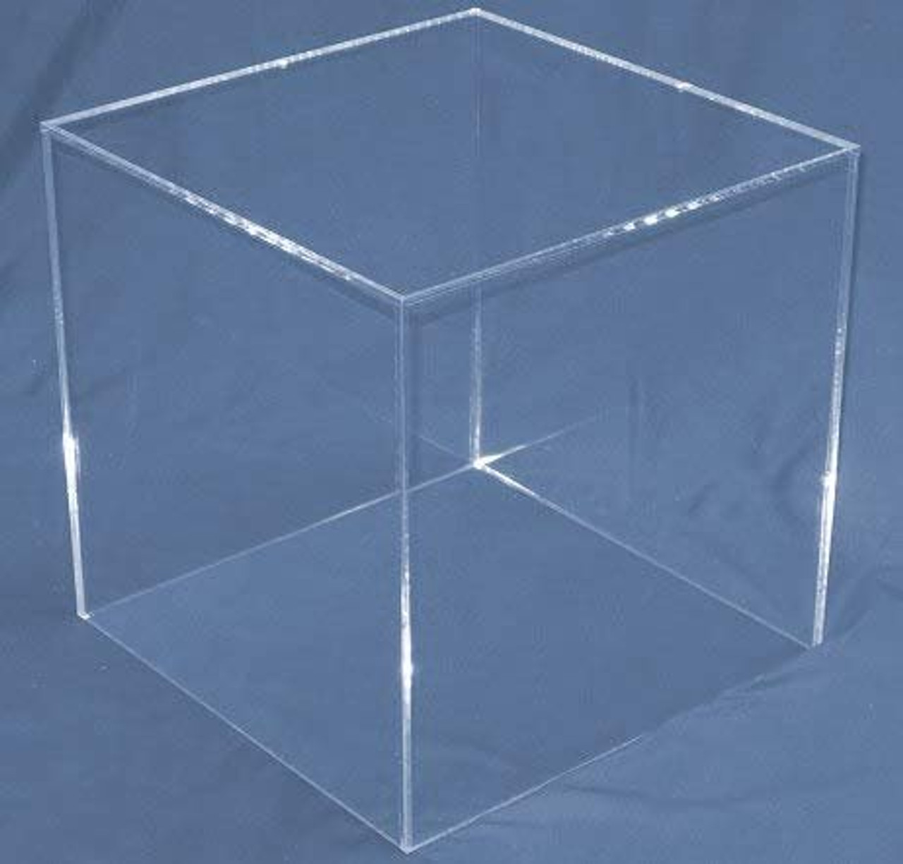 Clear Large Square Acrylic Display Cube, 14 Inch