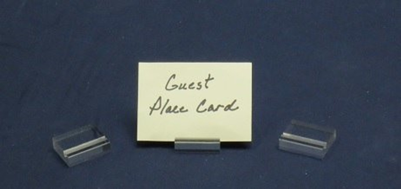 LUCITE GUEST PLACE CARD HOLDERS - CLEAR (100 pk.)