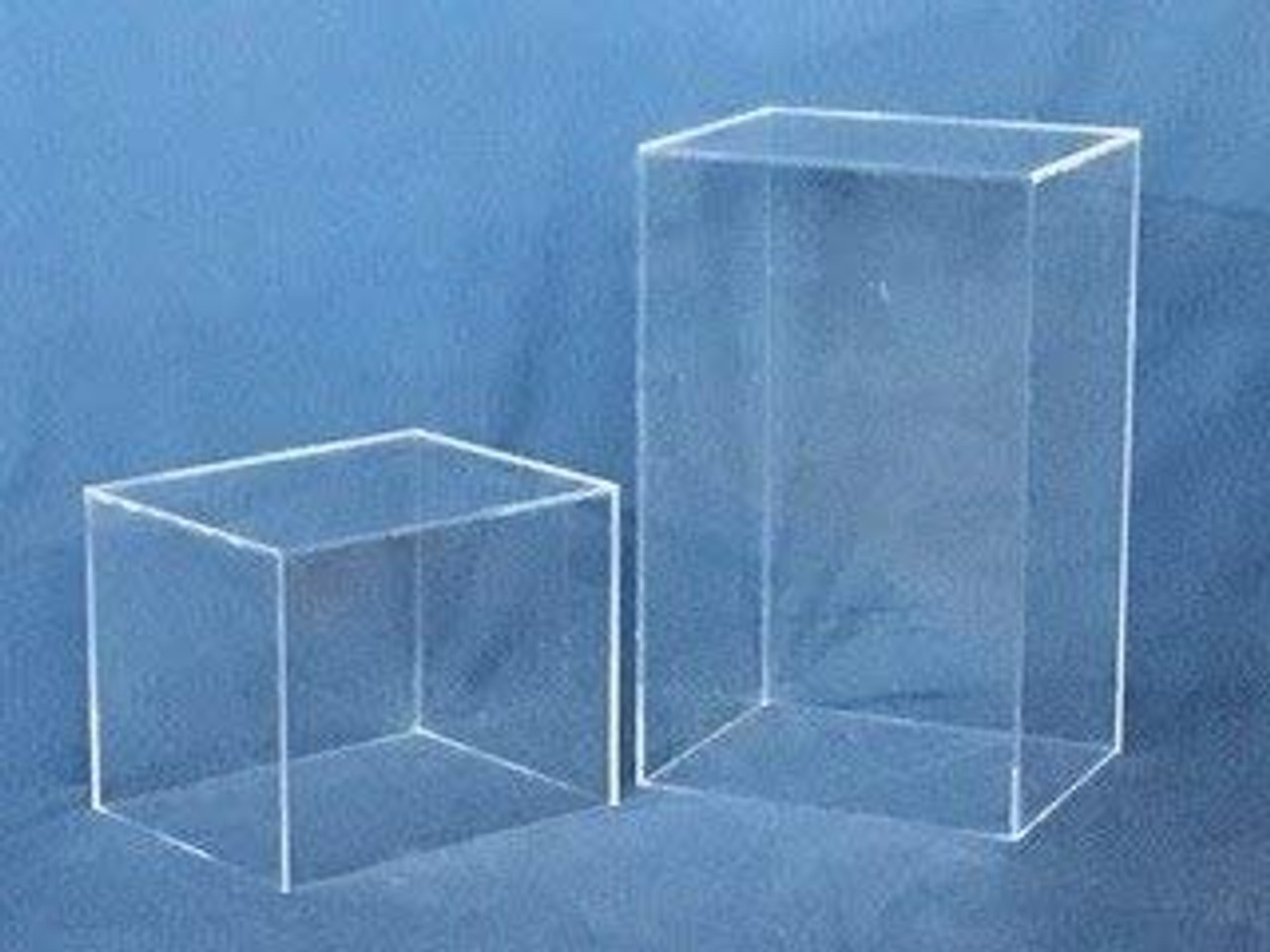Rectangular Acrylic Display Cube - Clear, 30 Inch