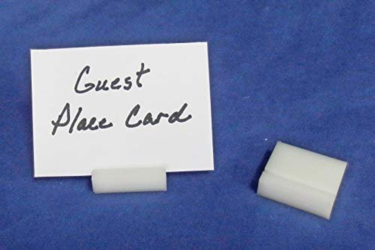 Lucite Guest Place Card Holders, White, 50 Pack
