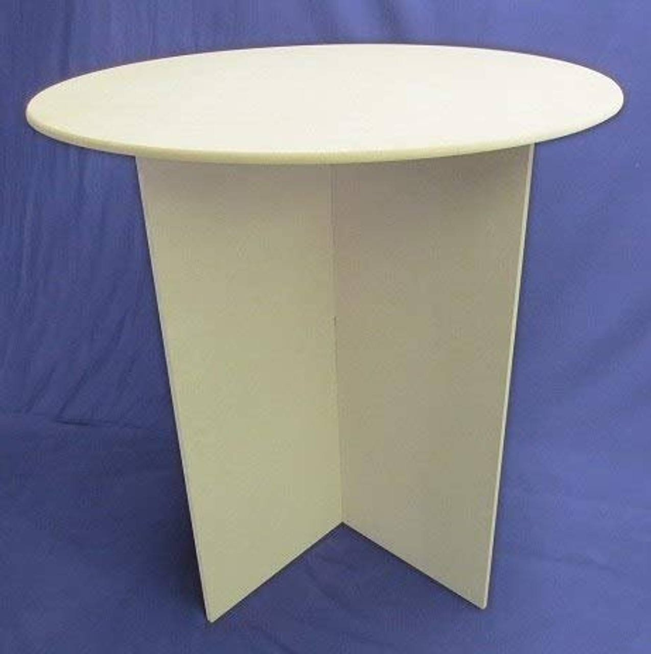 30 Inch Round Wooden Display Table