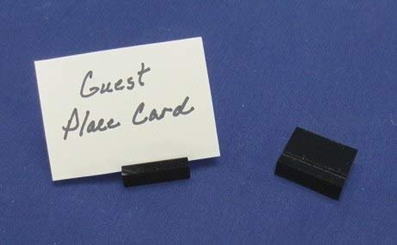 Lucite Guest Place Card Holders, Black, 50 Pack