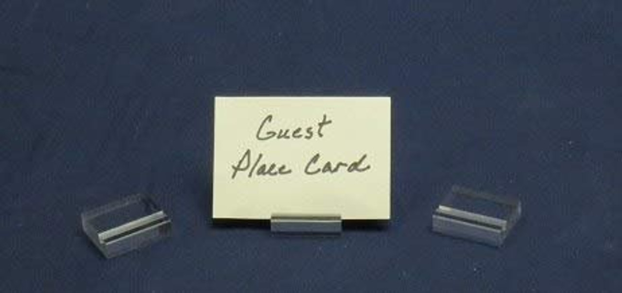 Lucite Guest Place Card Holders, Clear, 50 Pack